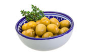 Green gigant olives — Stock Photo
