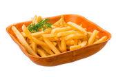 Papas fritas sobre fondo blanco — Foto de Stock