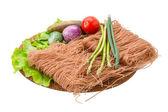 Ruwe rijstnoedels — Stockfoto