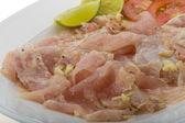 Swordfish carpaccio — Stock Photo