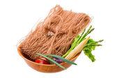 Fideos de arroz crudo — Foto de Stock