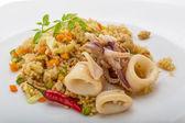 Fried rice with calamari — Stock Photo