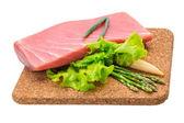 Tuna raw steak — Stock Photo