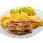 Grilled pork with potato — Stock Photo #46610117