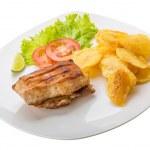 Grilled pork with potato — Stock Photo #46610841