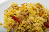 Rice with chicken and pineple — Stock Photo