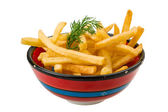 French fries on white background — Stock Photo