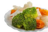 Haşlanmış lahana ve brokoli — Stok fotoğraf