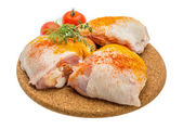 Raw chicken thigh — Stock Photo