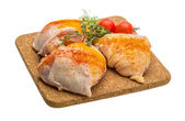 Raw chicken thigh — Photo
