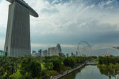 Marina bay sands entegre resort — Stok fotoğraf