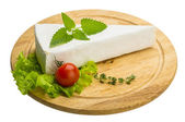 Brie cheese with thyme — Stock Photo