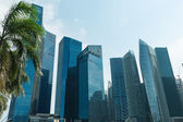 Buildings in Singapore skyline — Stock Photo