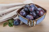 Ripe fresh plums — Stock Photo
