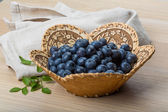 Blueberry with leaves — Stock Photo