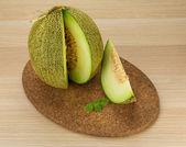 Skivad melon — Stockfoto