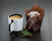 咖啡与松饼 — 图库照片