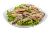 Raw tiger shrimps — Stock Photo