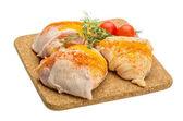 Raw chicken thigh — Stock Photo