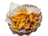 Seafood basket — Stock Photo