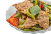 Pork with vegetables — Stock Photo