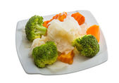 Boiled cabbage and broccoli — Stockfoto
