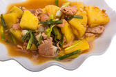 Pork and pineapple — Stockfoto