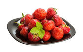 Strawberry in the bowl — Stock Photo