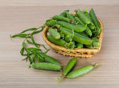 Green fresh peas — Stock Photo