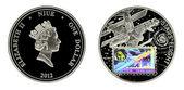 Silver coin — Stock Photo