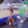 Attraction on the water - zorbing — Stock Photo