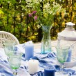 Served table on terrace — Stock Photo