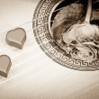 Royalty-Free Stock Photo: Music of two hearts