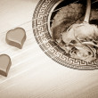 Music of two hearts — Stock Photo