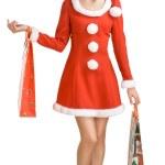 Christmas girl with bag — Stock Photo #1294244