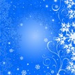 Christmas blue background — Stock Vector #1379394
