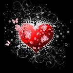 Valentines Day design black. — Stock Vector #1627520