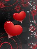 Sevgililer günü tasarım, renkli arka plan — Stok Vektör