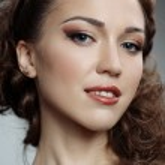 Pretty russian woman — Stock Photo