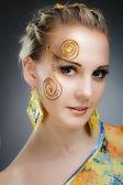 Fashion Beauty Make-up. Beautiful portrait — Stock Photo