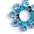 Blue jewel brooch — Stock Photo