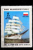 Wind-driven ships — Stock Photo