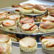 Different sort of canape for a self service buffet — Stockfoto