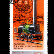 1st Russian locomotive E.A. and M.W. Cherepanov 1833-34 — Stock Photo