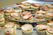 Different sort of canape for a self service buffet — Stock Photo