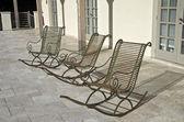 Three empty chairs. — Stock Photo