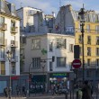 A small square in Montmartre, Paris.  — Stock Photo