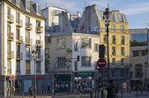 A small square in Montmartre, Paris. — Stock Photo