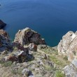 Coastal cliffs. Lake Baikal, Russia — Stock Photo