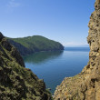 Stock Photo: Cleft in cliffs. Lake Baikal, Russia.